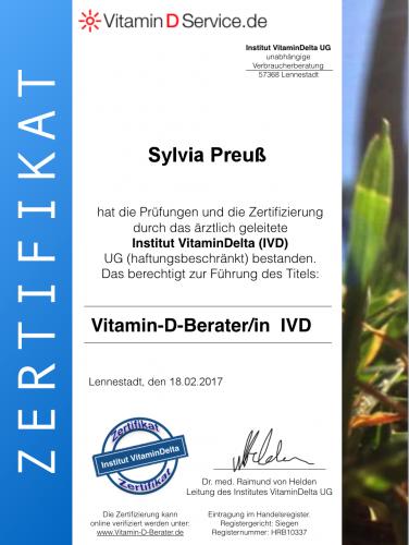 Zertifikat Vitamin D Berater